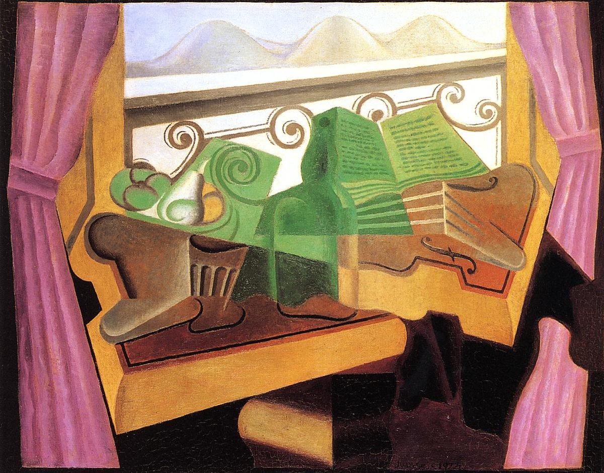 Open Window with Hills, Juan Gris, 1923 #juangris #syntheticcubism <br>http://pic.twitter.com/5XN5KgShIt