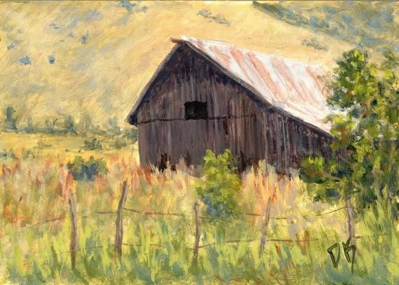 """""""Lost Barn"""" Fine art print available in sizes from 8 X 10 to 24 X 36 Impressionist painting of a rural landscape in the Eden, Utah: https://buff.ly/3eY0Ats #artprint #rural #rurallife #fineartprint #EdenUtah #Utahlandscape #OgdenValleypic.twitter.com/SOaSGsHtWQ"""