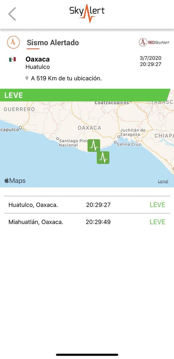 Se detectó sismo de intensidad «leve» en la zona de Huatulco, Oaxaca.  Imperceptible en zona centro. https://t.co/7VAgbfa4fO