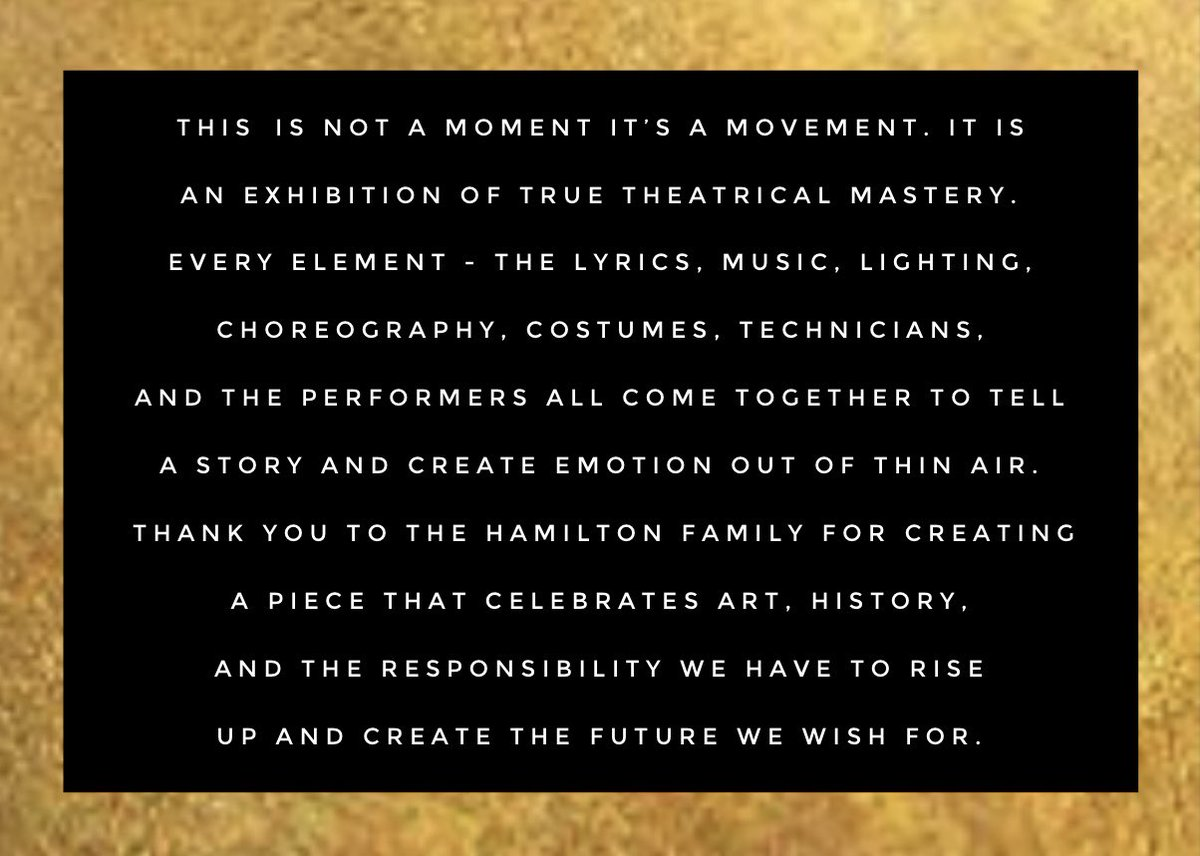 Thank you for #Hamilfilm. I'm #Helpless and #Satisfied all at once. This will be playing #Nonstop in perpetuity... at least until @intheheights is out... @HamiltonMusical @Lin_Manuel @LacketyLac @jseller @ABlankenbuehler @disneyplus #InTheHeights