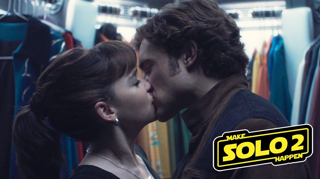 Emilia Clarke and Alden Ehrenreich in Solo: A Star Wars Story. Make Qira and Han smooch again! 💕 Please Disney, #MakeSolo2Happen !!! ⭐️⭐️⭐️⭐️⭐️