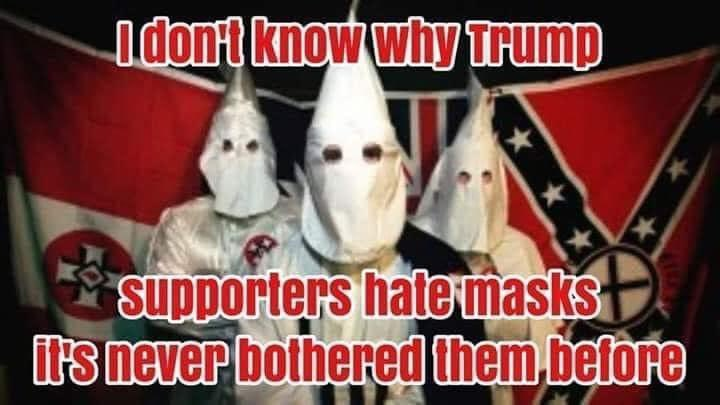Why is @realDonaldTrump #BenedictDonald bc his followers wear these <br>http://pic.twitter.com/syOtZE1BeU