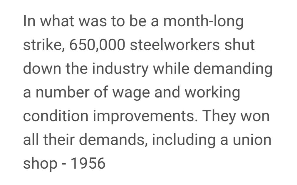 This week in #LaborHistory. And my #NYC #HousingCooperative was being constructed that year and our archives talk about the delays in getting steel because of that strike. There were also delays from the tugboat strike and the construction strike. So great! #1u #UnionStrong<br>http://pic.twitter.com/PTuXIeCX9V