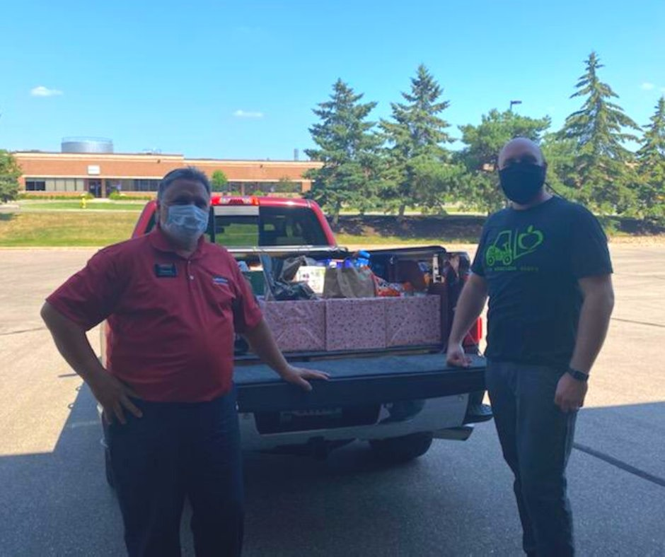 We received food donations from @LaMettrys this week. Thank you so much for collecting food to help us in our hunger relief efforts for children in our community!