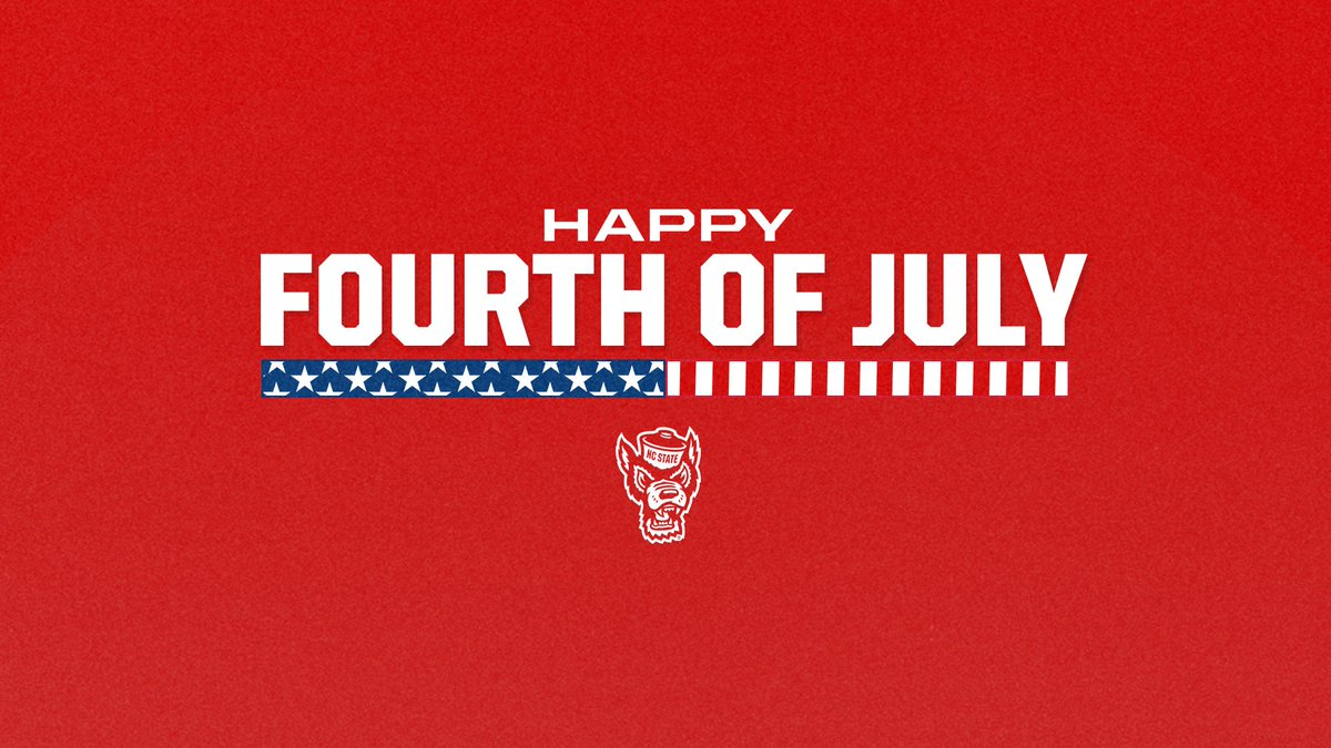 Happy #July4th, Wolfpack Nation! Use this day to stand up in unity.   #PackUnited https://t.co/pkXfKhDxhJ
