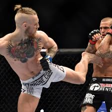 September 27th, 2014: @DustinPoirier and  @TheNotoriousMMA trade even blows for the first minute until Conor lands a clean left cross to the chin of the #Louisiana native. This was the #champchamp's most active and aggressive win to date. #UFC249 #UFC #MMA #UFCFightIsland https://t.co/AHoSgMKmSa