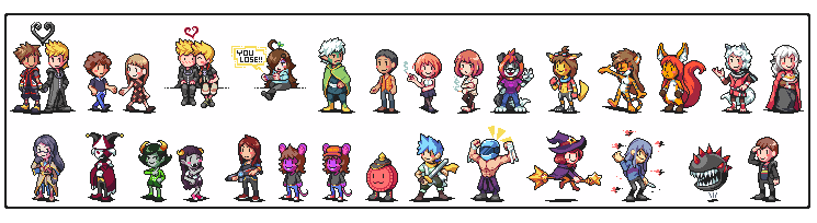 So with my employment situation being up in the air at the moment Im gonna be opening up small sprite commissions. Ill be taking them all month. No slot or sprite limit, $30 each. DM me if interested. #pixelart