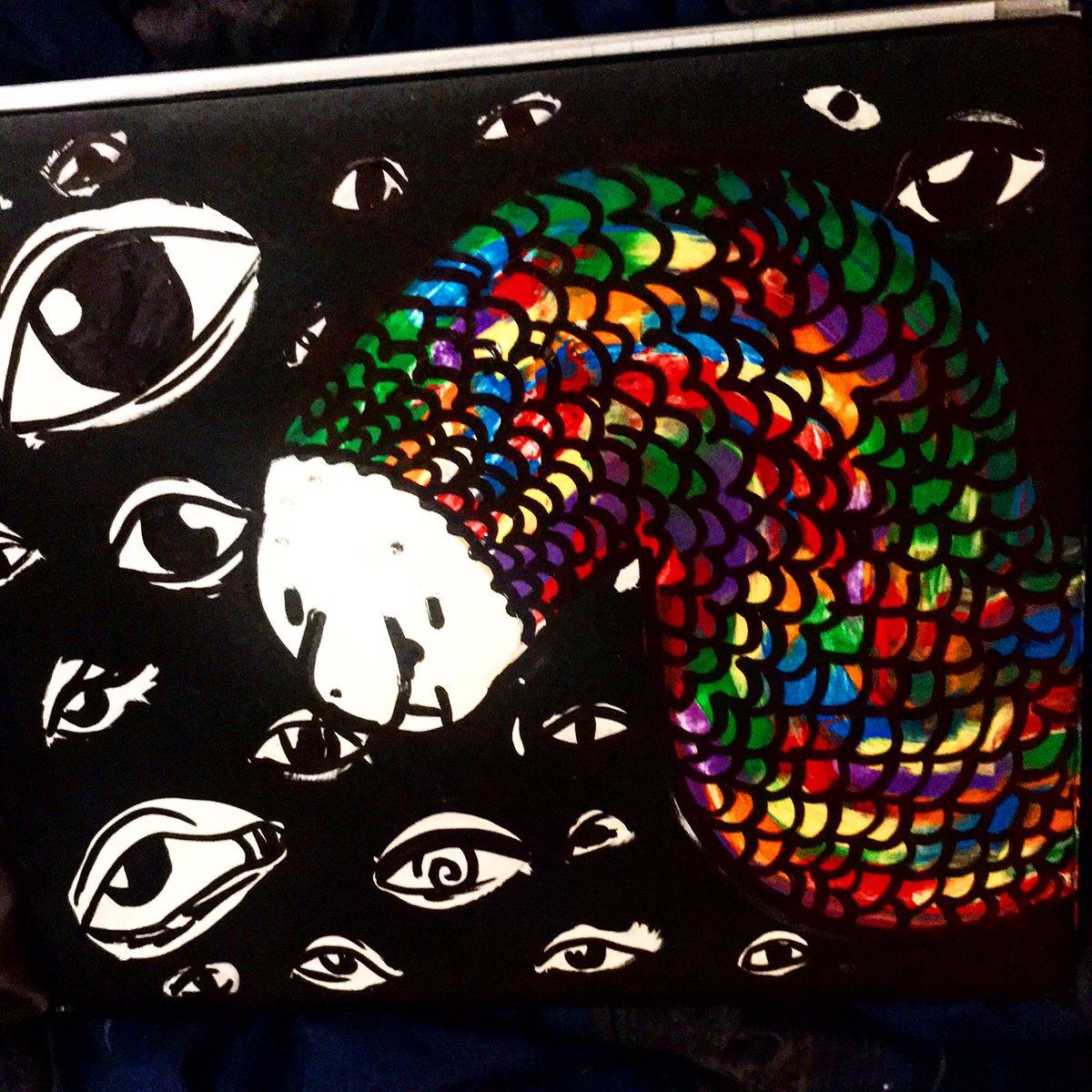 I paint ....idk what it is but I like it   #draw #drawing #art #artist #artistsoninstagram #paint #painting #paintings #creepy #creepyart #rainbow #eyeball #worm #dreams #illustration #illustrator #illustrationartists #illustratorsoninstagram #pandaelfpic.twitter.com/IgCYmG9H9X