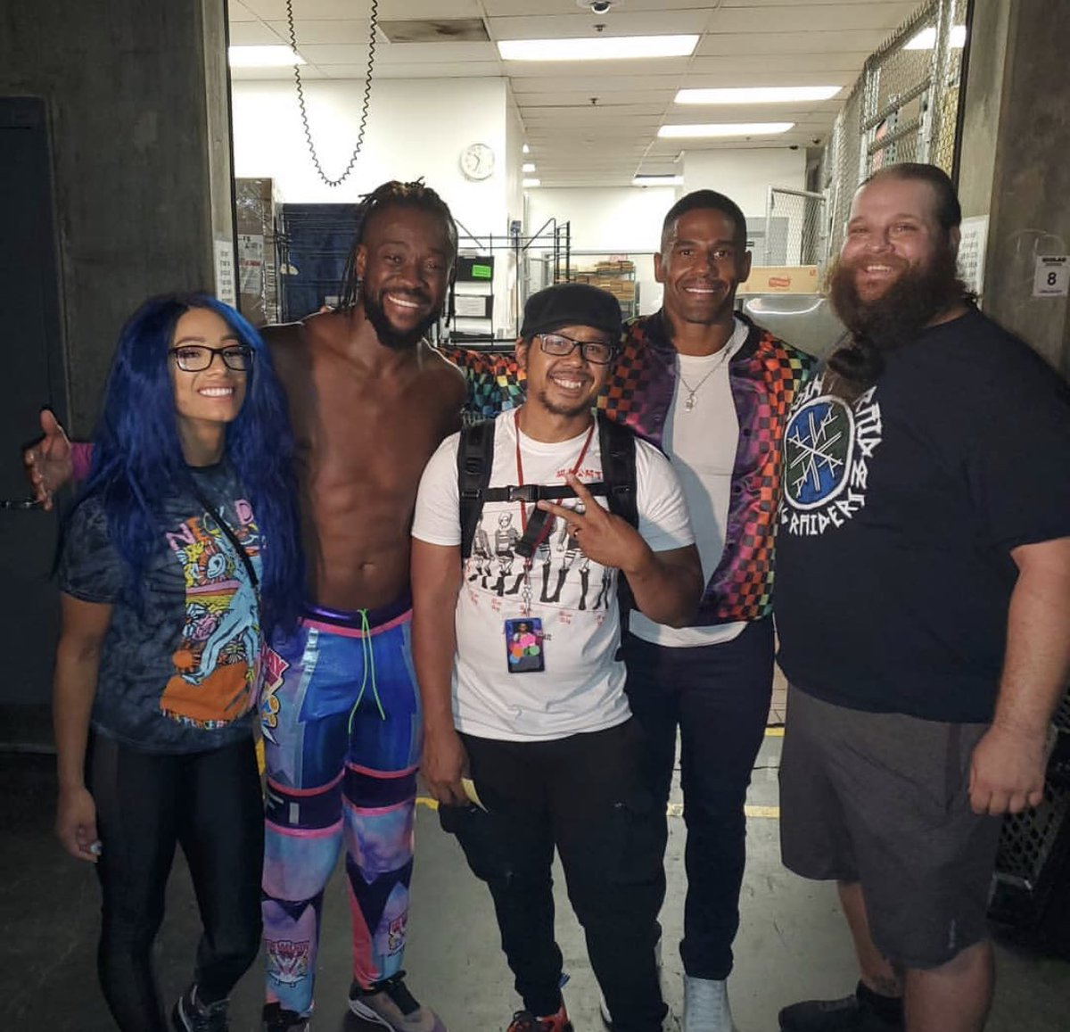 Ladies and gentlemen, the moment we've all been waiting for... it's Flashback Friday with the Chaotic Crew📸 @SashaBanksWWE @TrueKofi @IamMikaze @Ivar_WWE🤘🏼 • • • • Follow my #Podcast 🎙https://t.co/BAyi8cqJNj #flashbackfriday #BlockTheHate #LA https://t.co/XaAyU26v8a