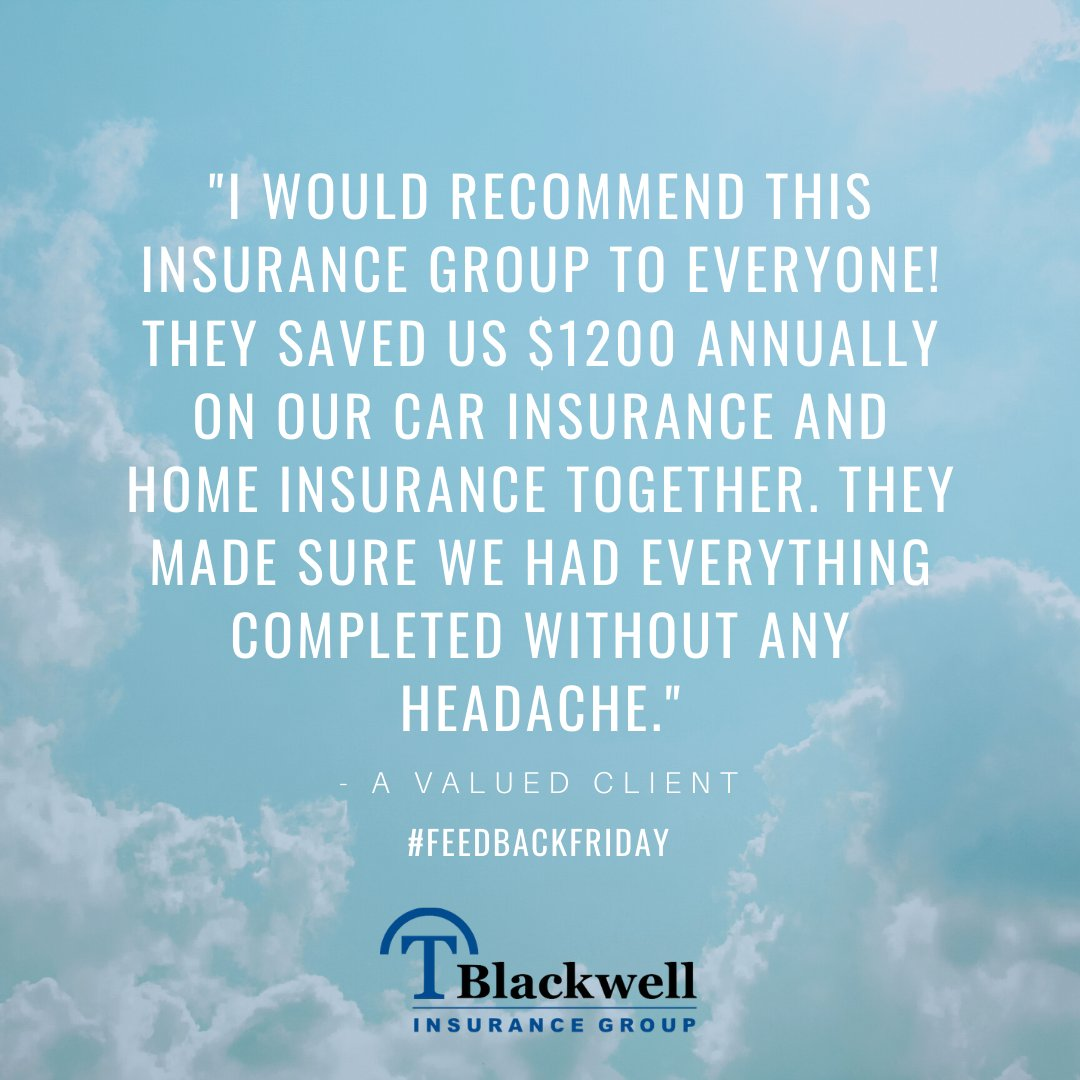 You've made it through the week just in time for #FeedbackFriday!  If you have an experience you would like to share about our agency, leave us a review by visiting this link TODAY! ‍ https://t.co/1sEGDoFBxa ‍ HUGS #TBlackwellInsurance #DareToBeDifferent #Insurance #Car #Work #TX https://t.co/v0HvfkK9kv