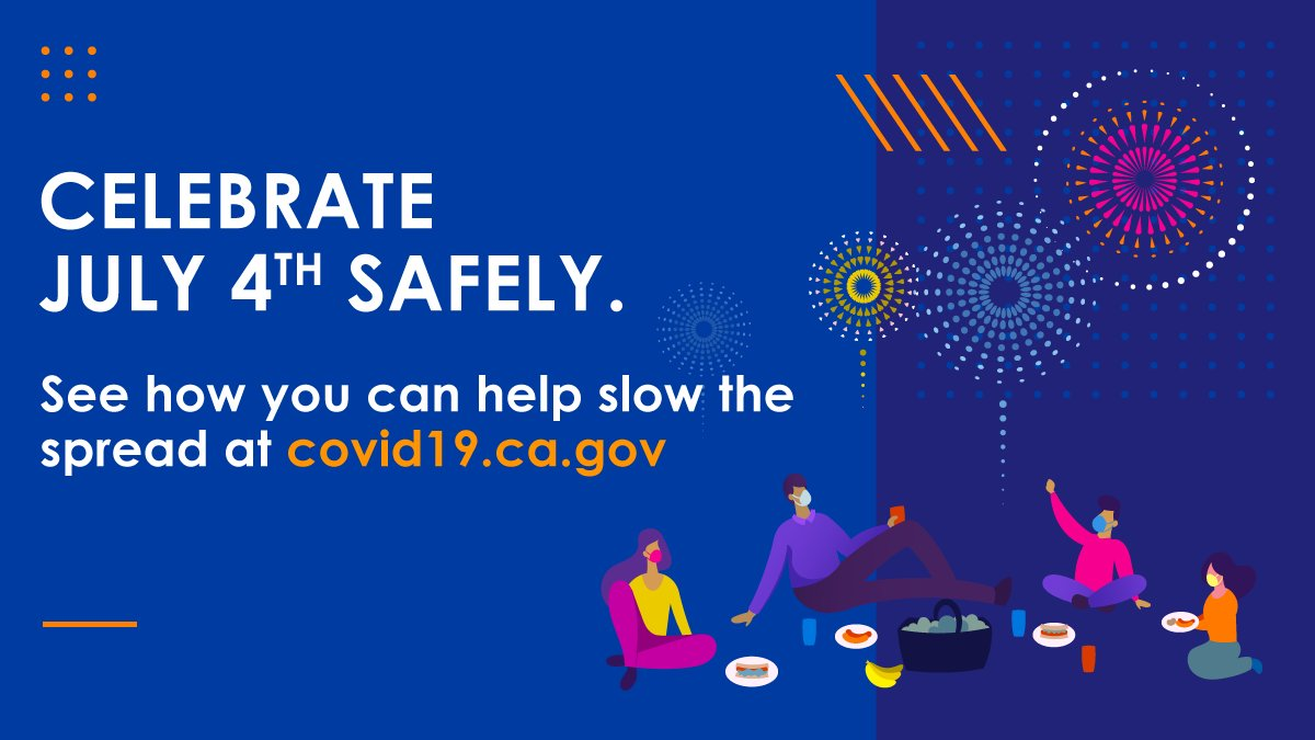 Take it outside this #4thofJuly weekend! 🎆  While certain places may be closed, this is the perfect weekend to ride a bike, have a picnic or go swimming with the people in your household.  Stay safe to slow the spread! #YourActionsSaveLives https://t.co/8MUqQkGBFX