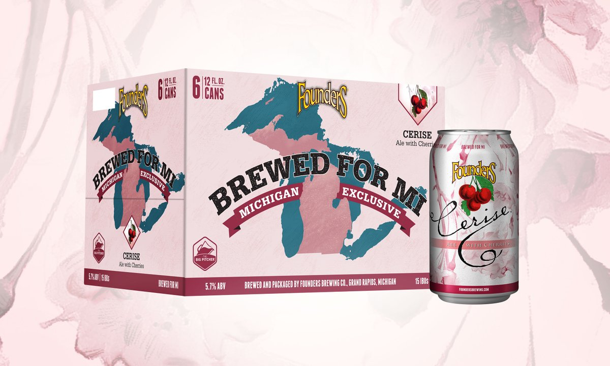 Cerise, the latest offering in our Brewed For MI Series, aims to raise awareness for @FairandEqualMI, a Michigan-based non-profit seeking to pass Michigan's first LGBTQ rights law. Learn more and sign their petition here: https://t.co/aopVrZDCOK https://t.co/ZoA3Ifh6Db
