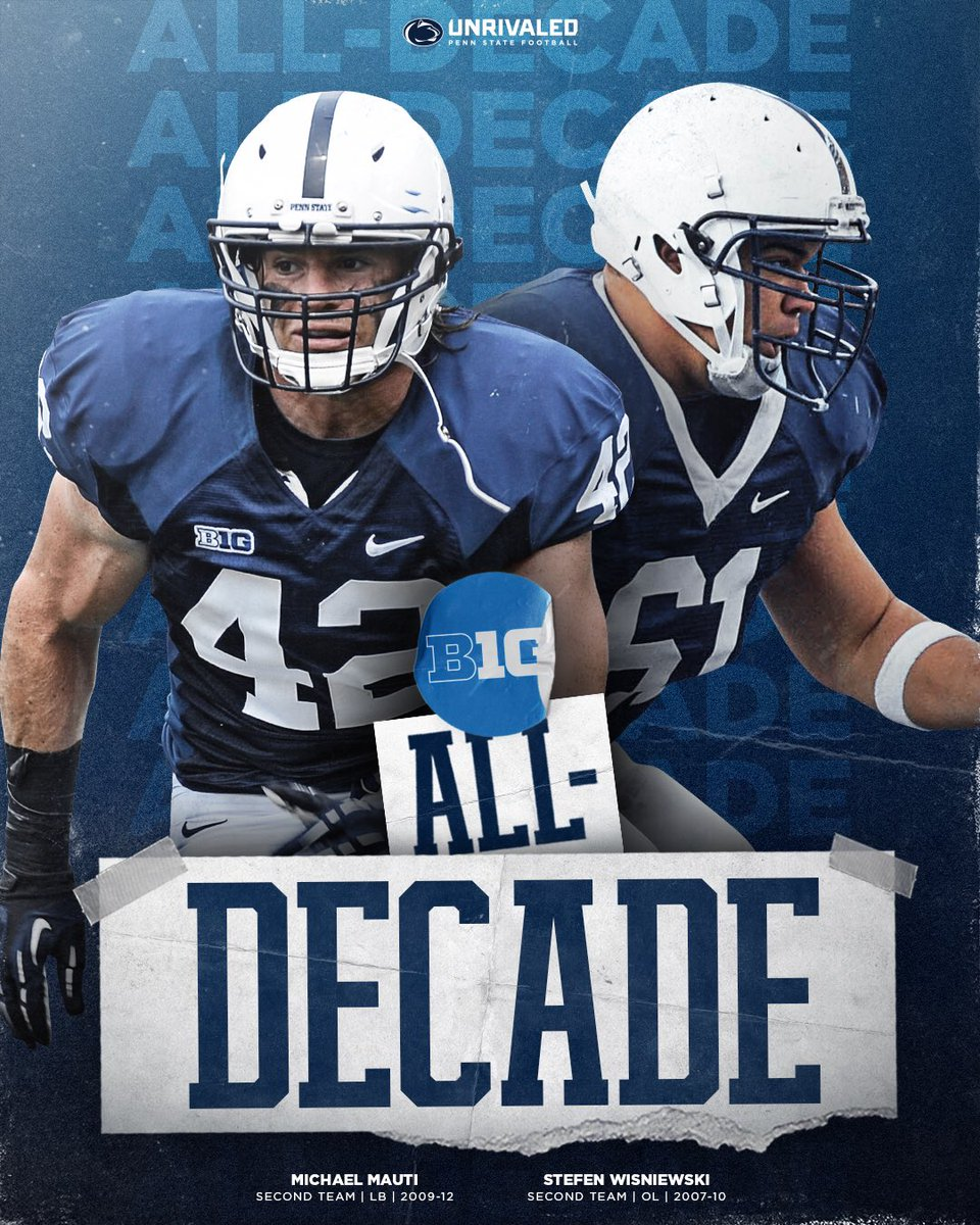Two more Nittany Lion greats to represent our University. #WeAre
