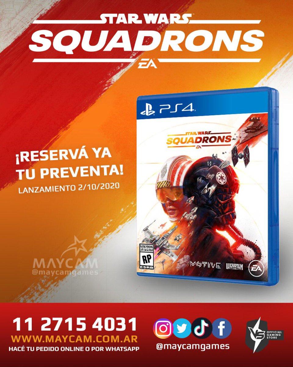 CONVERTITE EN UN PILOTO DE CAZA ESTELAR Y PEDÍ TU PREVENTA FÍSICA DE STAR WARS: SQUADRONS AHORA!! . HACÉ TU PEDIDO A TRAVES DE WHATSAPP 1127154031 O https://t.co/14YZthZ1pc . . #StarWars #StarWarsSquadrons #Squadrons #Caza #LaGuerraDeLasGalaxias #Millennium #Falcon #AlaX #PS4 https://t.co/jntGtQwwmP