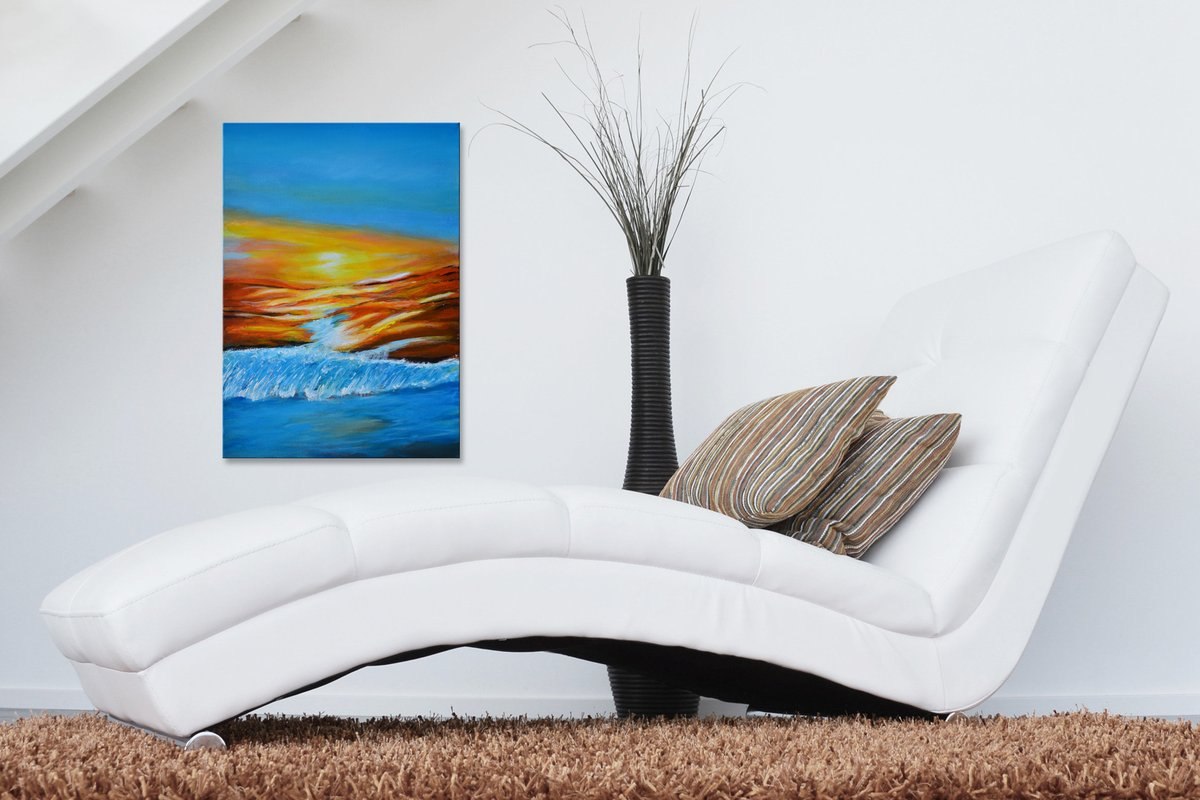 Excited to share the latest addition to my #etsy shop: Colors of Earth - Original Painting on Canvas Ready to Hang by Misty Lady https://t.co/8FZ0qRm87h #blue #unframed #landscapescenery #abstract #canvasboard #vertical #readytohang #fineart #giftidea https://t.co/EmzV0p3Sqe