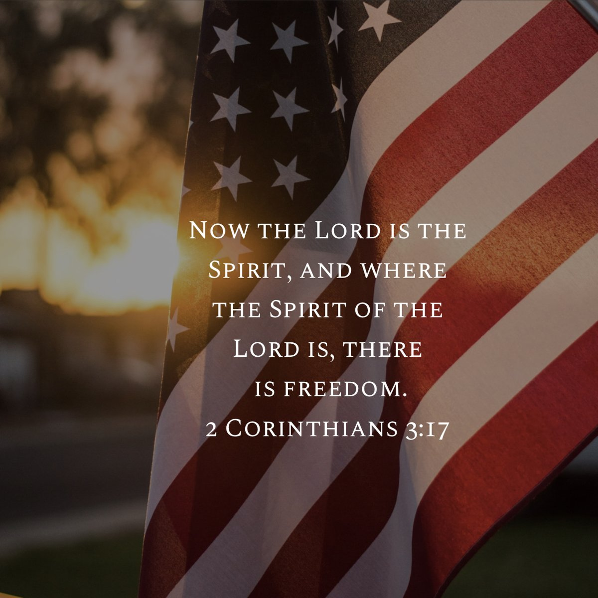 """""""Now the Lord is the Spirit, and where the Spirit of the Lord is, there is freedom."""" 2 Corinthians 3:17 (niv) Happy Independence Day from #AGTrust https://t.co/zGsq26LeQ7"""