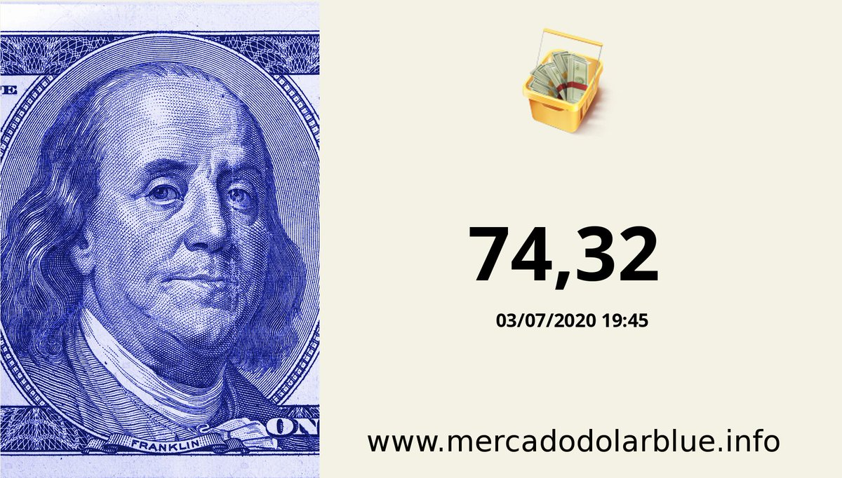 #Blue #DolarParalelo #Argentina  #DolarOficial: 74,32 #DolarBlue: 127,00 #EuroBlue: 142,54 #DolarEuro: 1,1224 https://t.co/gvOmfTmak0 https://t.co/5GRmbwbZ8D