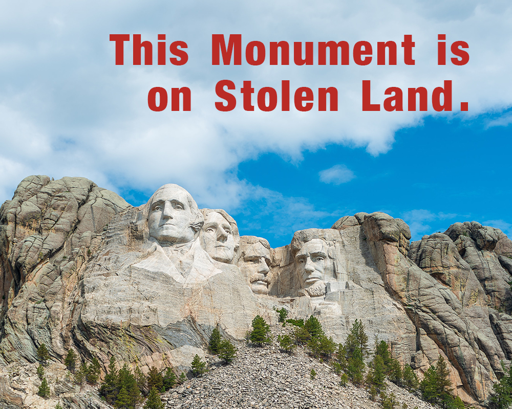 As #Trump holds his #MountRushmore parade, join us in demanding that the U.S. return the stolen #BlackHills to the Great Sioux Nation. #LandBack2020 https://t.co/K4l4yExW5G https://t.co/hVSpvjdMOC