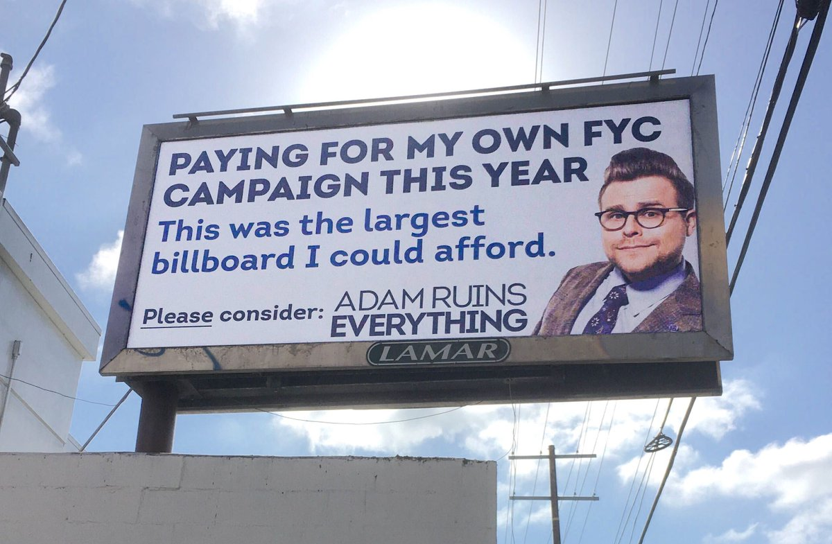 The network didnt do an FYC Emmy campaign for Adam Ruins Everything this year, so I did one myself: