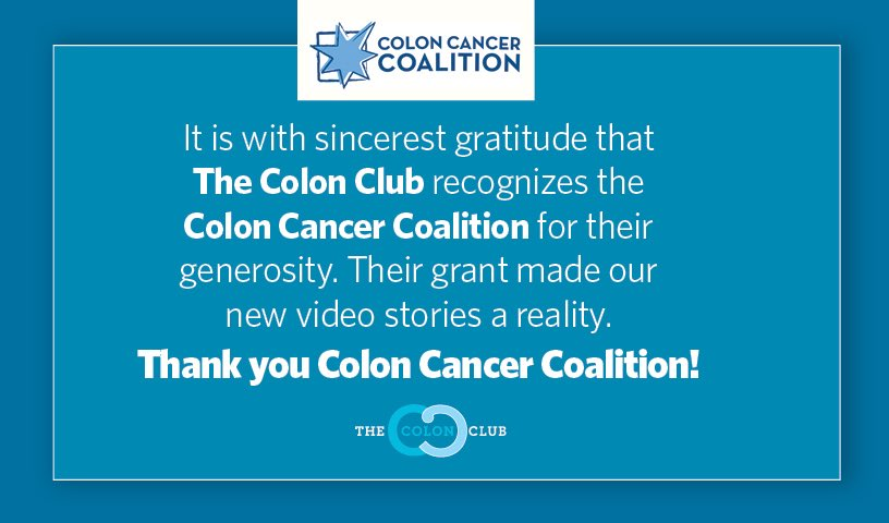 The Colon Club On Twitter We Are Honored Recipients Of One Of The Many Grants That Gyrig Has Provided In 2019 The Grant Enabled Us To Add Video Stories To Our Website