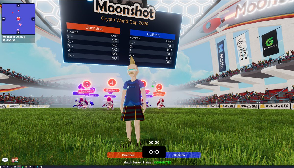 Rocking my @opensea jersey on ready to go for the @decentraland Moonshot World Cup