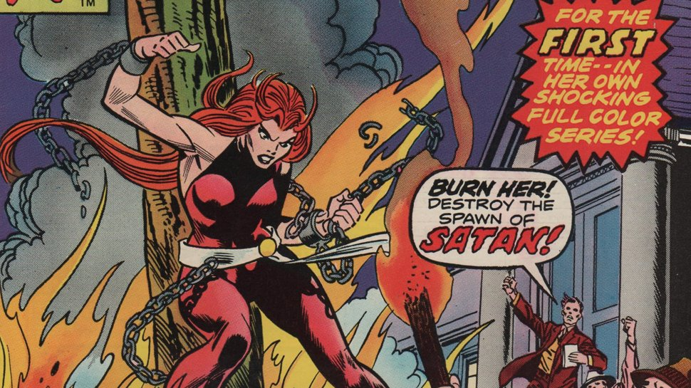 Today in #MarvelComics History, #Satana first appeared in Vampire Tales #2 (July 3, 1973). 📕Watch - amzn.to/3gqmYfj