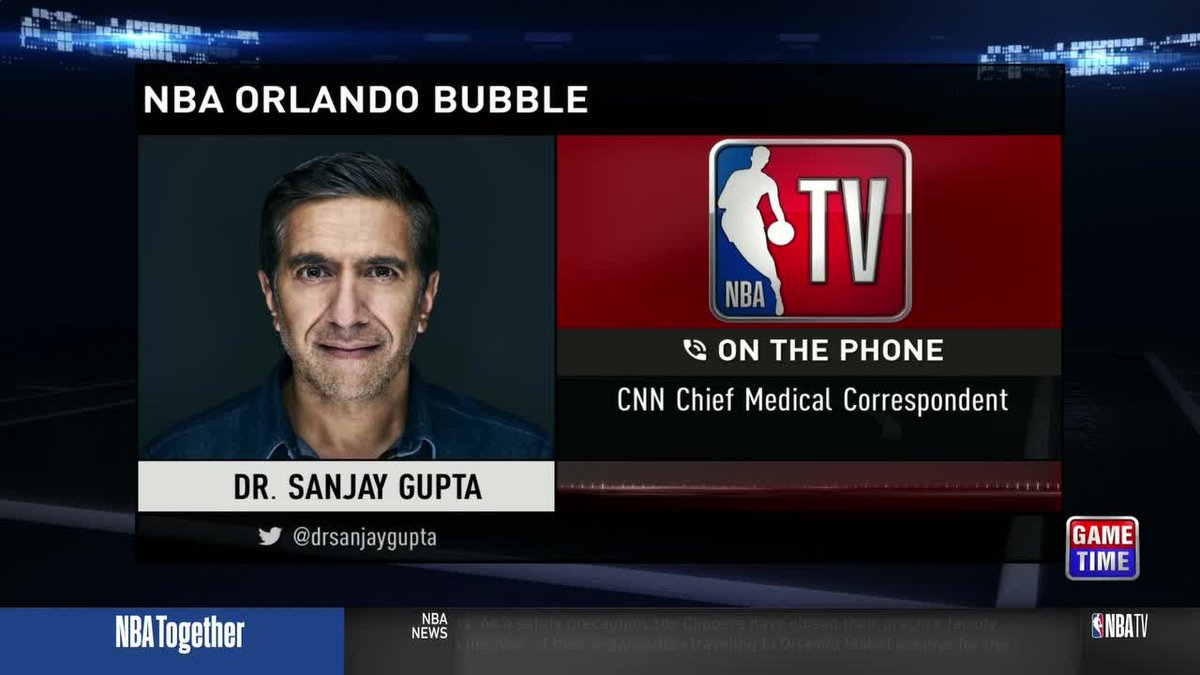 """It's a really interesting approach.""  @drsanjaygupta shares his thoughts on the NBA's bubble plan in Orlando on #GameTime https://t.co/YhTx3xr12X"