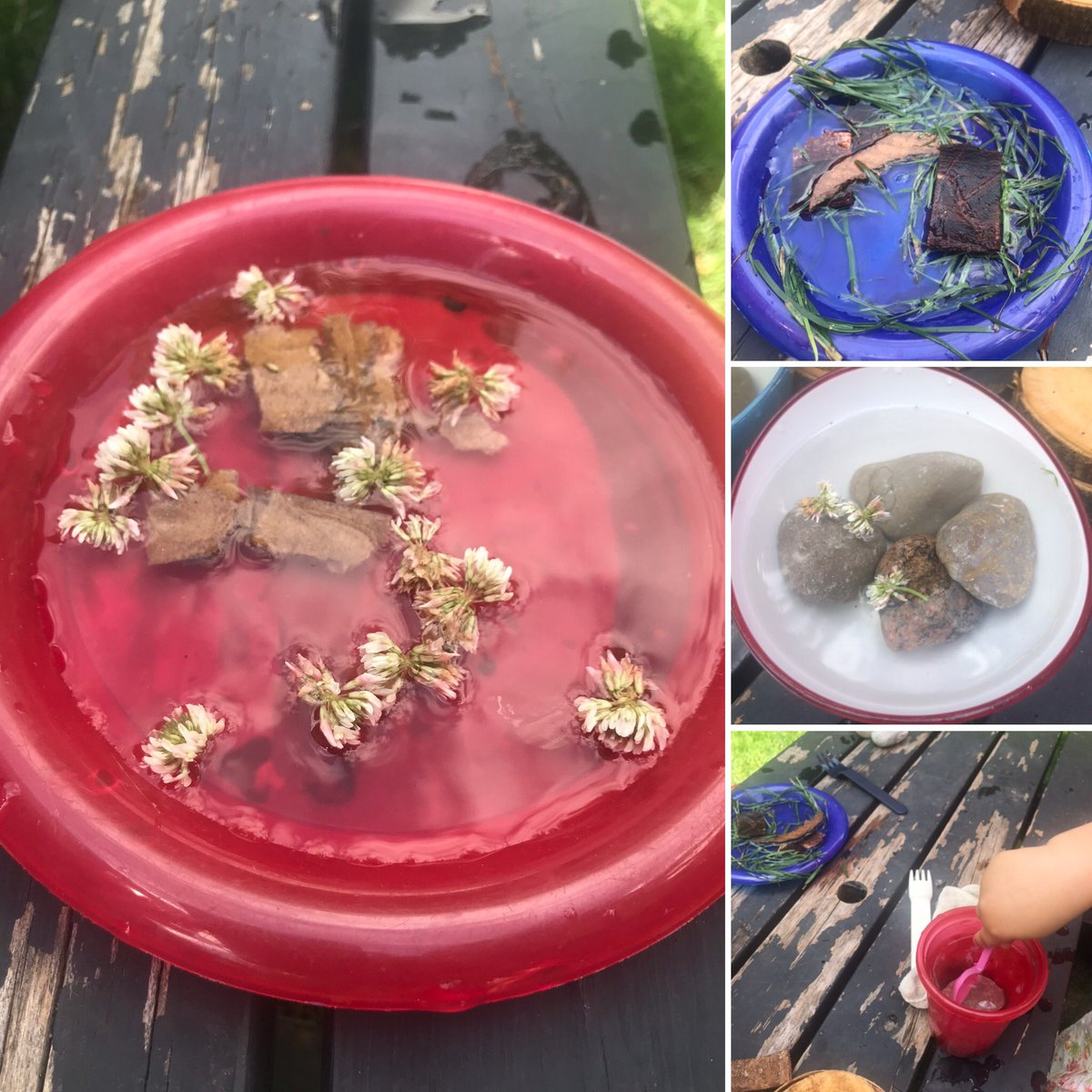 Natural loose parts are free & can inspire a great deal of creativity in children.  Would you like a blackberry cappaciuno? Or potato stew? How about pasta with meat chunks? #outdoorplay #stem #homeschool #homeschooling #homeschoolmom #creativekids  #looseparts #loosepartsplaypic.twitter.com/57ls4aV9oE