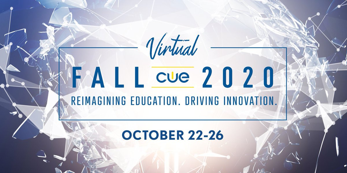 SAVE THE DATE! #FallCUE details coming soon. Keynotes from ✅@lhighfill & ✅@Gameboydrew!#WeAreCUE