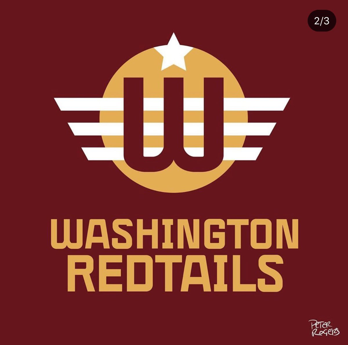 Washington Redtails is my vote.  Either the version with the P-51 logo, or something like this one. https://t.co/lilqVtbbQt