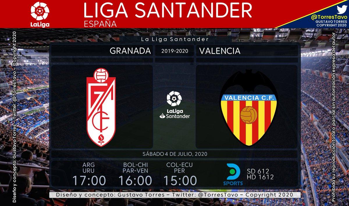 Granada - Valencia TV: @DIRECTVSports 610-1610 Narra: @leandrozapponi Comenta: @fpetrocelli #FutbolEnDIRECTV https://t.co/EKxzUgajyD