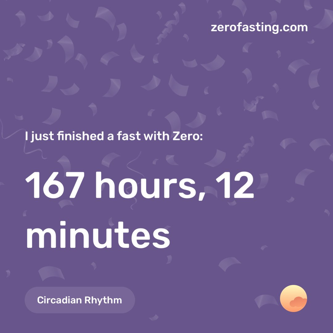 Just finished a Circadian Rhythm fast with Zero, check it out! zerofasting.com
