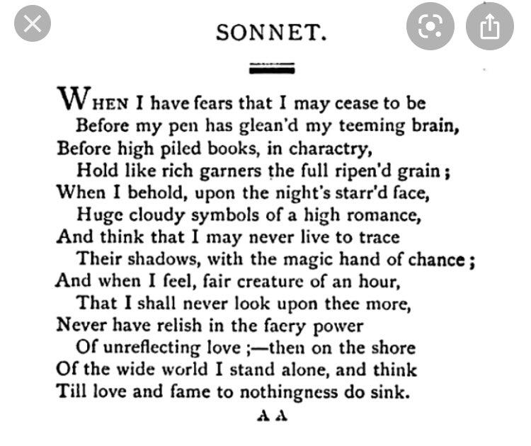 @lolaandjolie This tweet reminds me of the Keats poem: