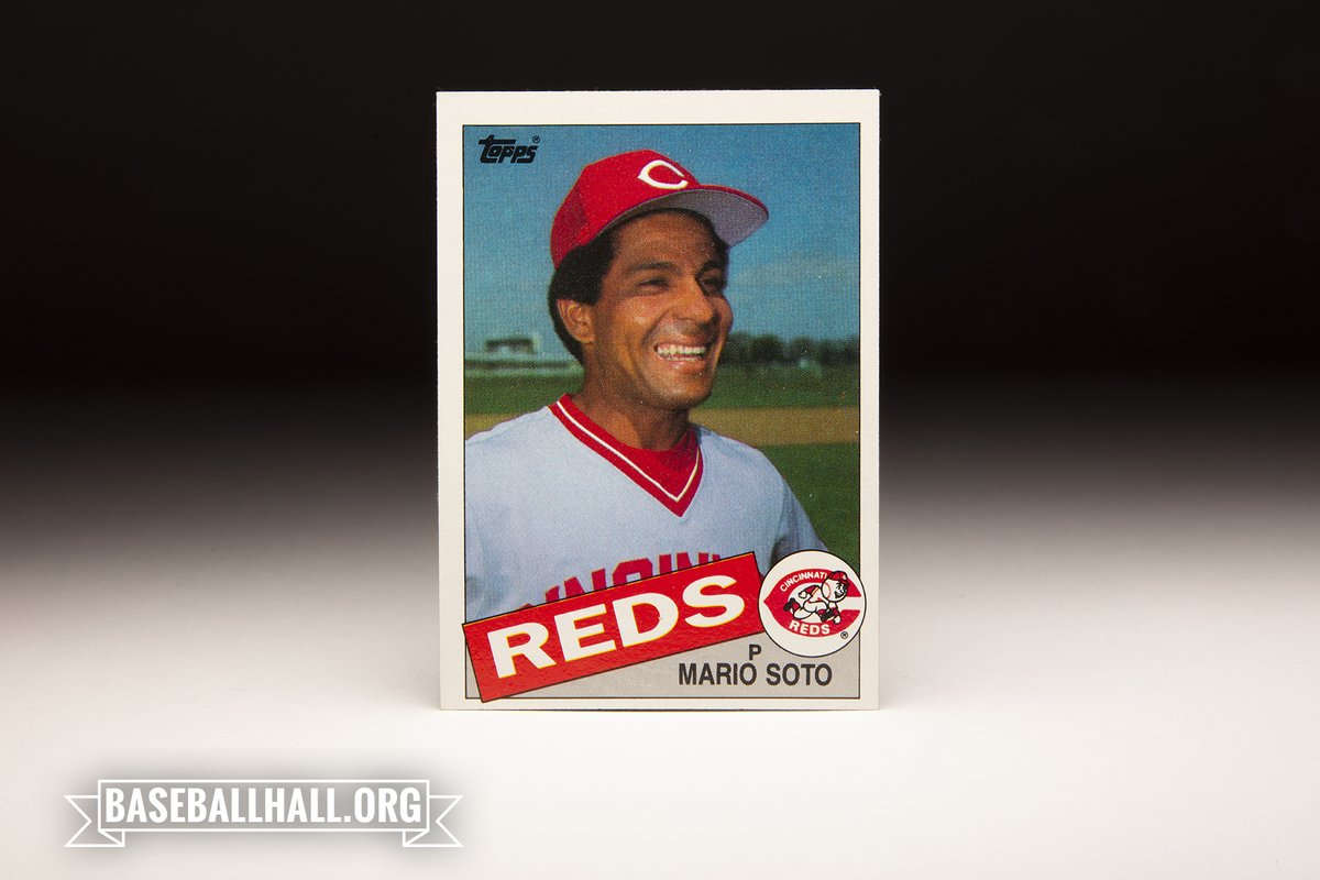 This week's #CardCorner features Topps' 1985 Mario Soto card, and dives into the @Reds career of the Queen City ace. baseballhall.org/discover/card-…