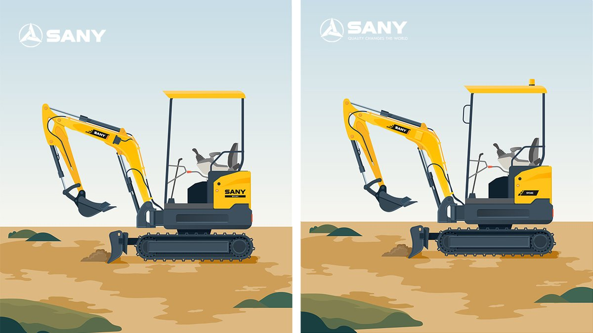 SANY SY16C has been upgraded since 2019. Can you spot all six differences? #SanyProduct #miniexcavators https://t.co/92G3hNHFNK