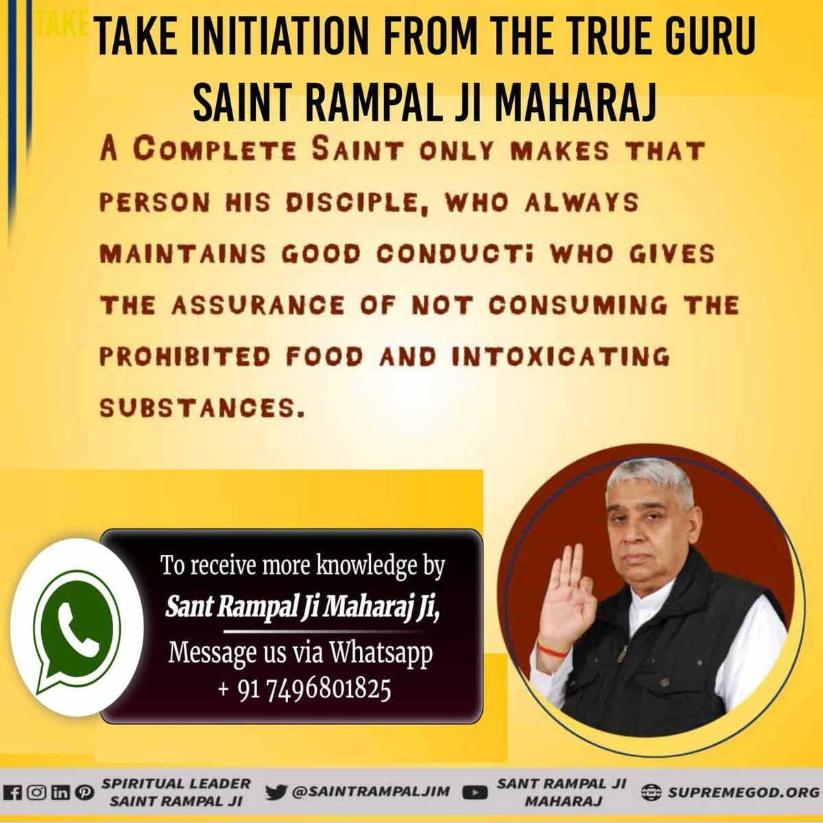 #Who_Is_TrueGuru  Take initiation form the True Guru Saint Rampal Ji Maharaj @SaintRampalJiM and get escaped from the cycle of birth and death <br>http://pic.twitter.com/l8mBz53nHB