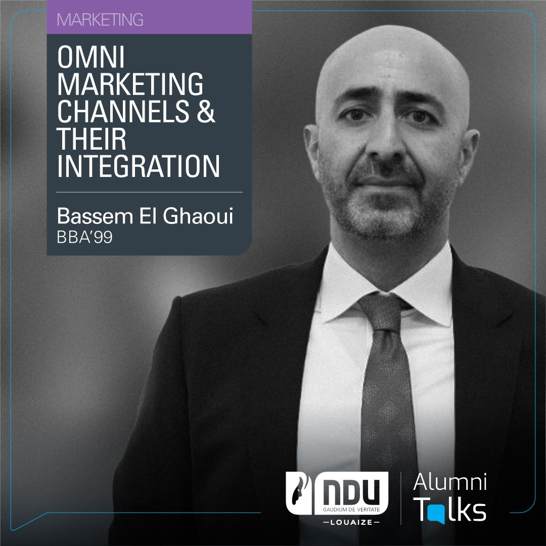 "Today at 10:30 a.m. Alumnus Bassem El Ghaoui (BBA'99),  will present the new concept of Omni-channel marketing in his #AlumniTalks ""Omni Marketing Channels & Their Integration"" Book your spot: https://t.co/3DyOjjBac3 https://t.co/V9k50hBUum"