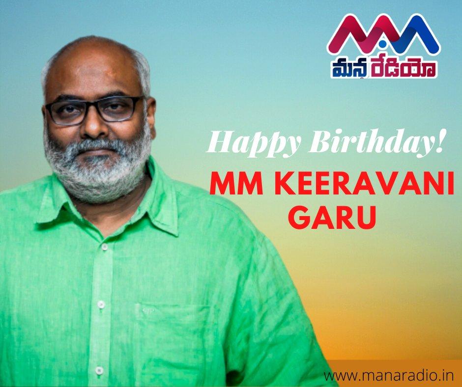 Here's wishing one of the finest legendary Music Director/Singer/Lyricist MM Keeravani garu a very Happy Birthday! from ManaRadio  #hbdmmkeeravani #MMKeeravani #Telugumusicdirector #Tollywood #manaradio #teluguradio  @mmkeeravaanipic.twitter.com/TsL0PuIwIN