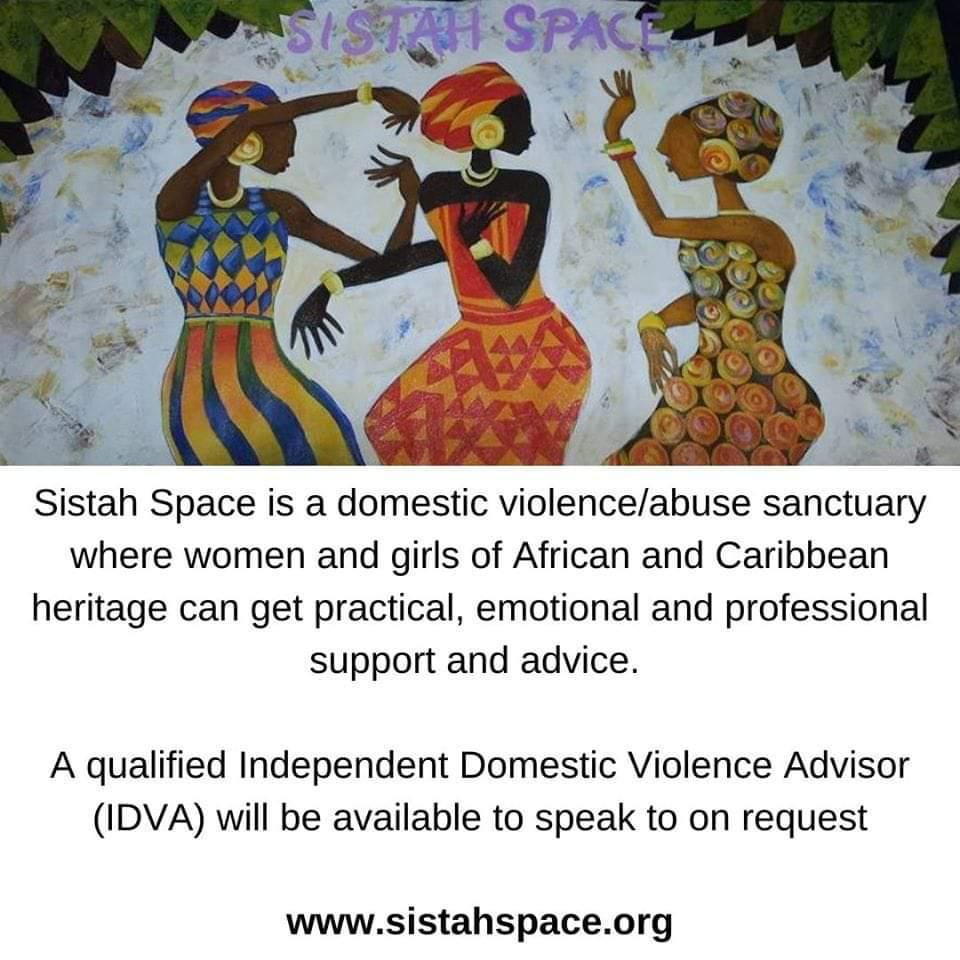 Every  week 3 women are killed by a partner or former partner.  Help is available @Sistah_Space  a domestic violence/abuse sanctuary for women and girls.  https://t.co/R0Aq2U2qei  #Sutton #Merton #Croydon #DomesticViolence #Support #Help https://t.co/StSyvYSn0i