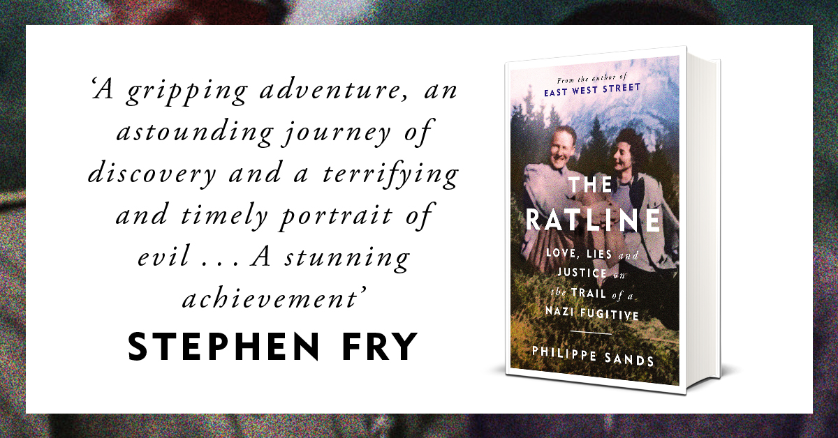 Philippe Sands offers a unique account of the daily life of a senior Nazi and fugitive. Drawing on a remarkable archive of family letters and diaries, he unveils a fascinating insight into life before and during the war, on the run. THE RATLINE, out now! https://t.co/NGMWXkRgMf https://t.co/ielMW7Y8TQ