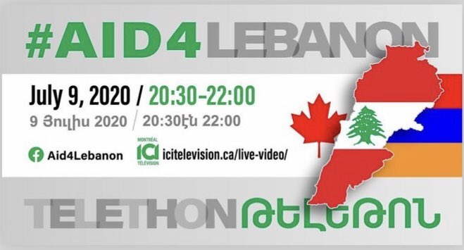 Please save the date. Bring #heartfelt #support for Our #Armenian🇦🇲#Brothers & #Sisters in 🇱🇧#Lebanon during this #telethon 🙏🏻 As #Armenians it's our #duty #obligation to assist #Lebanese #Armenians where the heart & soul of the #ArmenianDiaspora has #existed #exists #aid4Lebanon https://t.co/DmX30LEdI3