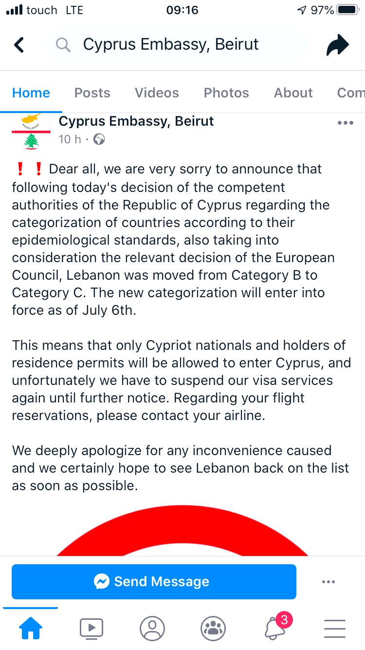 Larissa Aoun On Twitter No More Visas To Cyprus Lebanon Has Been Downgraded In Eu Council More Countries To Come عهد الذل