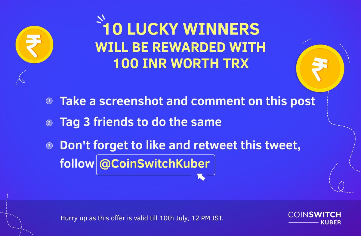 🇮🇳Giveaway Alert 🇮🇳 10 lucky winners will get INR 100 worth TRX Click on this Instagram link instagram.com/ar/29240707546…, tell us which #crypto personality are you by posting a screenshot as comment. @zooko @VitalikButerin @cz_binance @justinsuntron @SatoshiLite