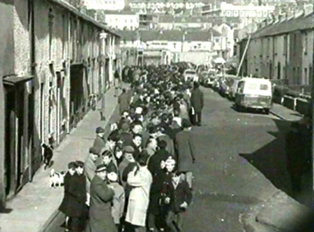 The queue waiting for the pubs to reopen in Fishguard is now halfway down the road to Gorseinon
