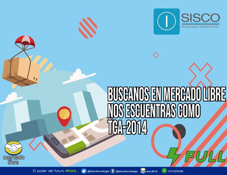 Recuerda que nos puedes encontrar en mercado libre como TCA-2014 📦🛒🚚🏡 eshops.mercadolibre.com.mx/tca-2014 #Sisco #MercadoLibre #MercadoFull #Tecnología