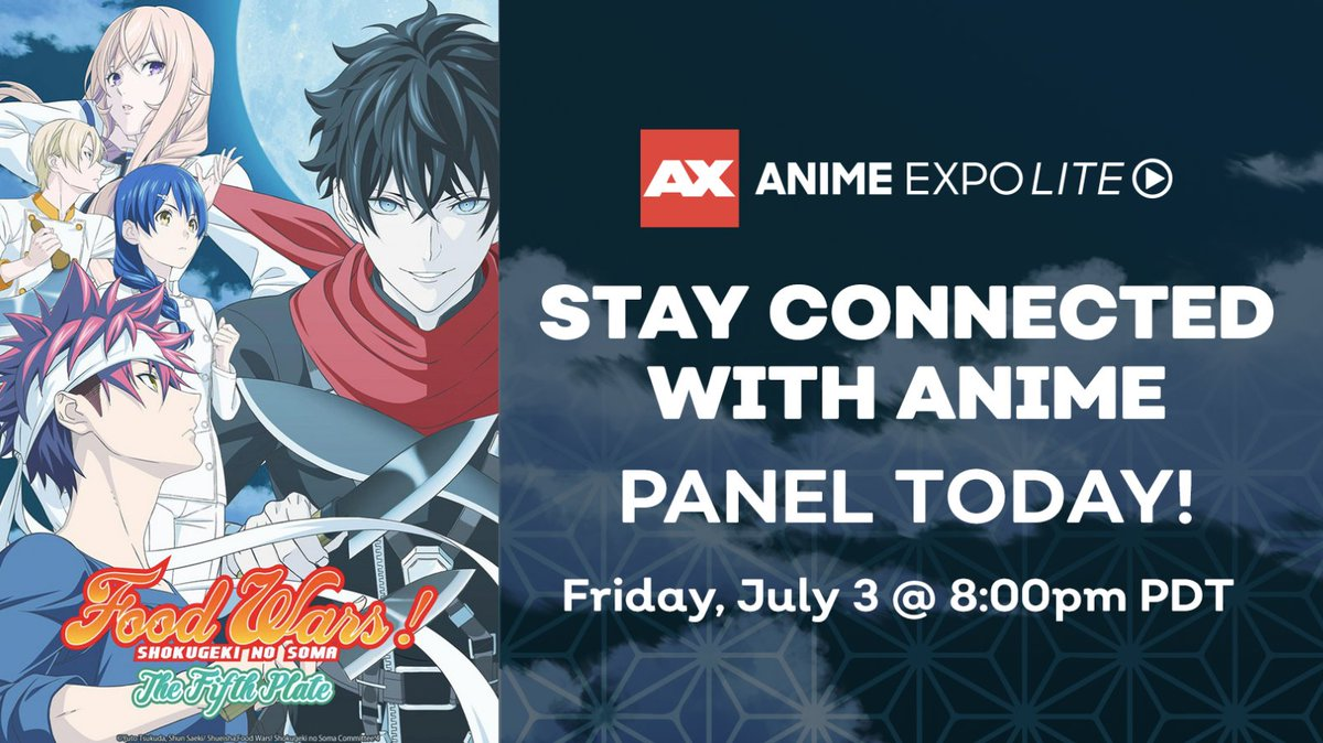 Warner Bros. Japan's Anime Expo Lite Panel is LIVE!   WATCH:  http:// got.cr/FoodWarsAXLite    <br>http://pic.twitter.com/XLHhsi3Uhn