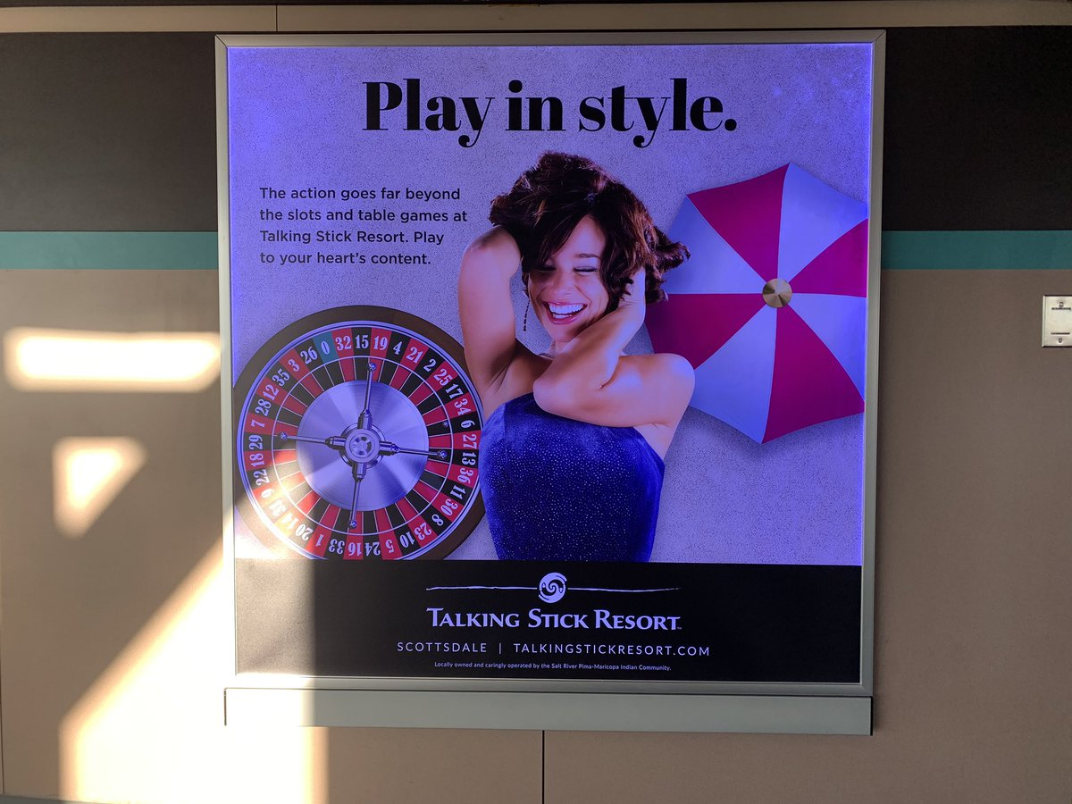 This Casino Advertisement looks like it used to be a Resident Evil Poster with Jill Valentine #UmbrellaCorporation pic.twitter.com/hLNhrkoCge – at Phoenix Sky Harbor International Airport (PHX)