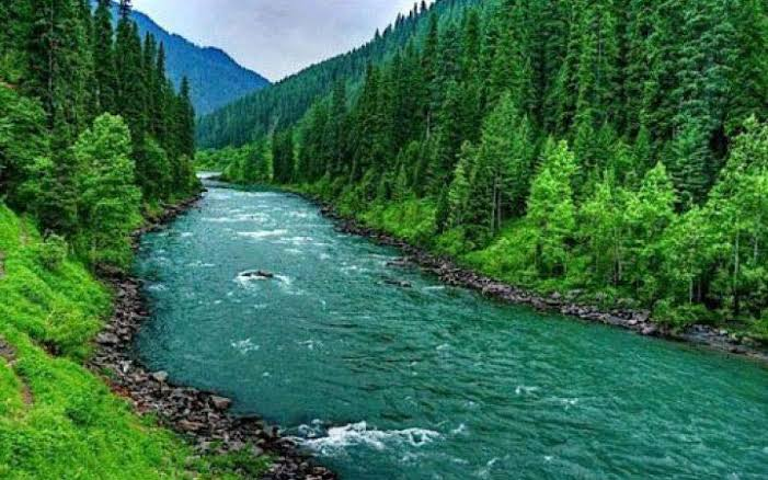 Through center of Kashmir flowed Vitasta(Jhelum) river, the sacred river born from the Himalayas.