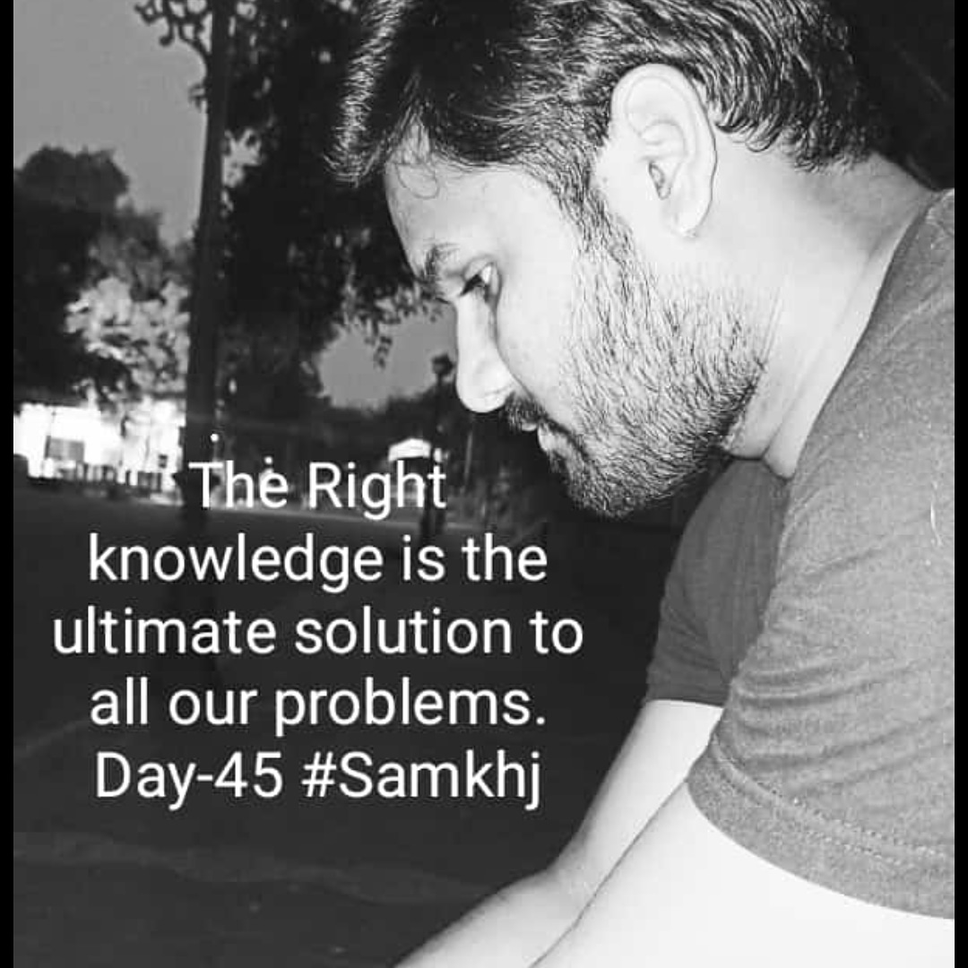 Small beginning Day - 45  The right knowledge is the ultimate solution to the our problem. #health #fitness #fit #fitnessmodel #fitnessaddict #fitspo #workout #bodybuilding #cardio #gym #train #training #health #healthy #instahealth #healthychoices #active #strong #motivationpic.twitter.com/l3pr1MSlDy
