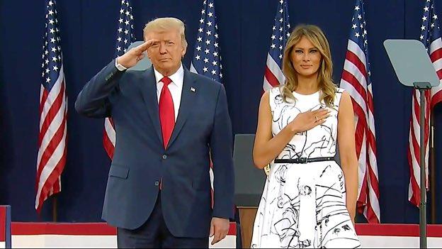 Civilians don't salute.